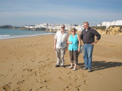 On the beach with Peter, Wendy and Joerg