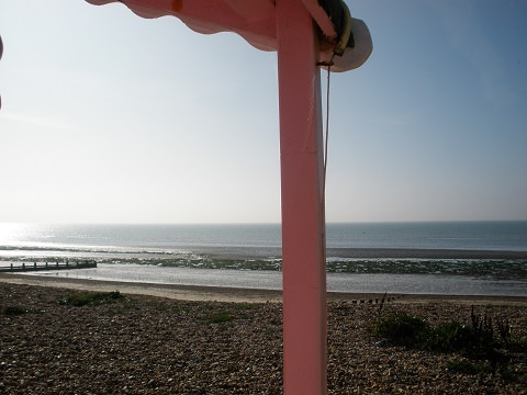Views of Littlehampton beach huts