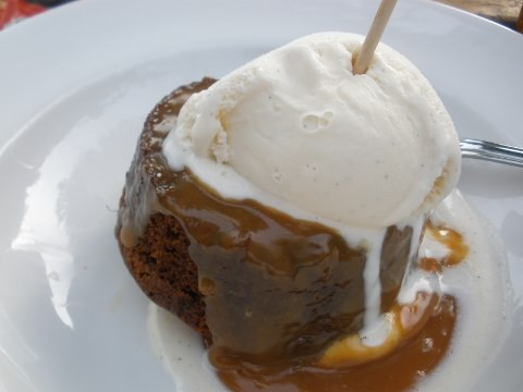 My sticky toffee pudding