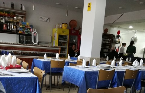 Inside the restaurant, Bragança