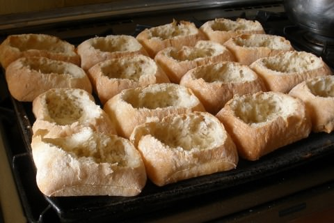 Photo of bread boats.