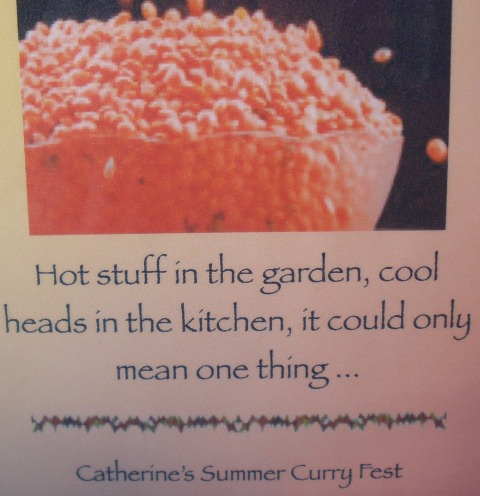 Catherine's Summer Curry Fest
