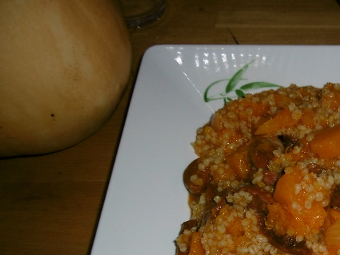 Chorizo, butternut and pearl barley