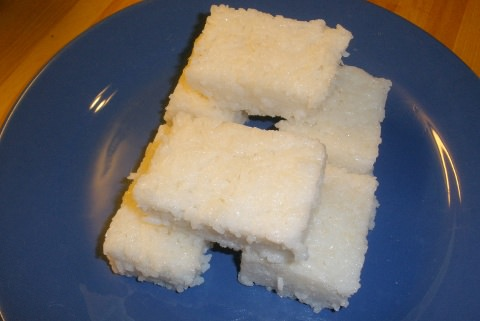 A photo of compressed ginger rice.