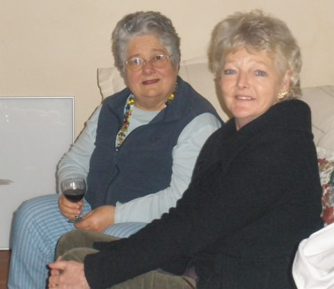 A photo of Deirdre and Helen