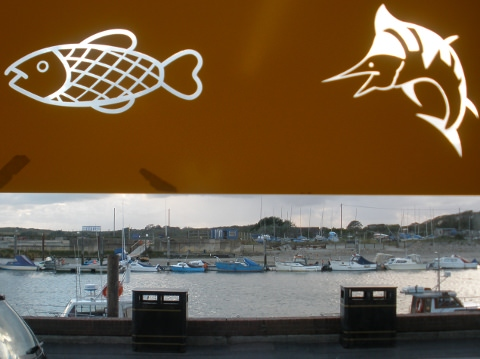 Taken from inside Freds Fish and Chips