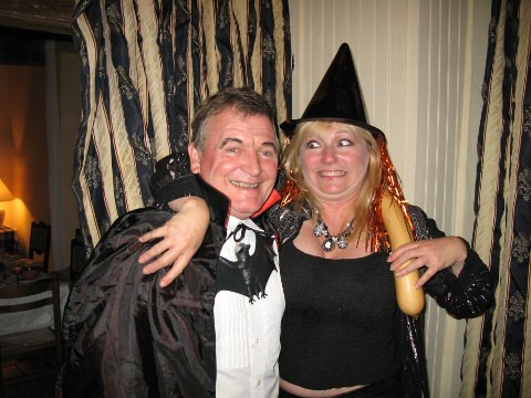 A photo of Ed and I at Halloween.