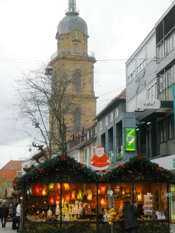 Another view of the Christmas market in Heilbronn.