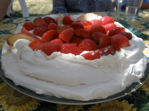 A photo of Kathleen's pavlova.
