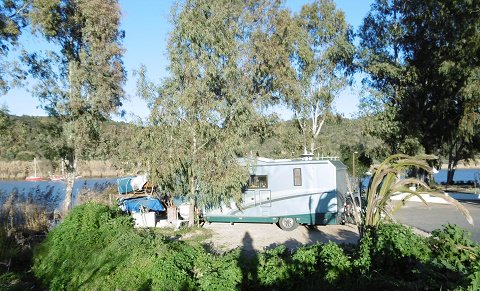 Parked at the Guadiana River