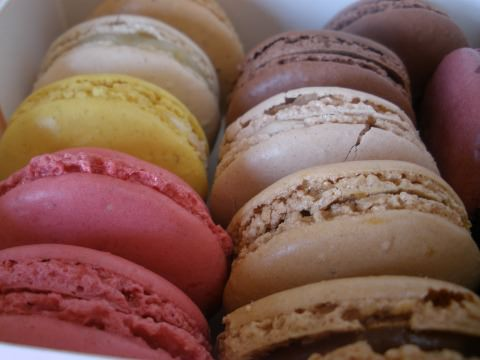 A photo of macaroons from Paris.