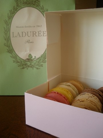 A macaroon box from Paris.