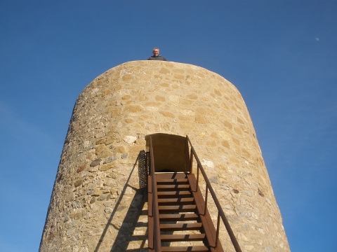Joerg atop Mojacar tower