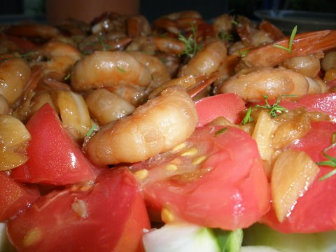 Thai shrimp with garlic and pepper
