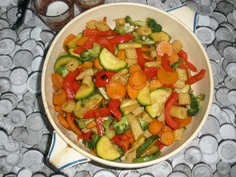 Thai sauteed mixed vegetables