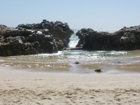 A photo of sea and rocks in Port Elizabeth.