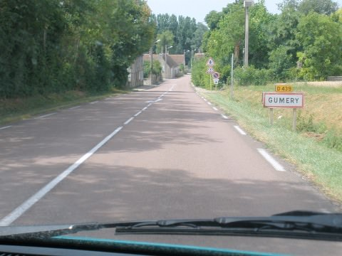 A pink tar road in Champagne