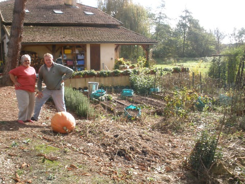 Deirdre and Joerg with The Pumpkin