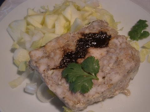 Rabbit terrine with chicory apple salad