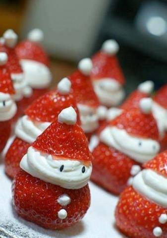 Strawberry snowmen by Laura