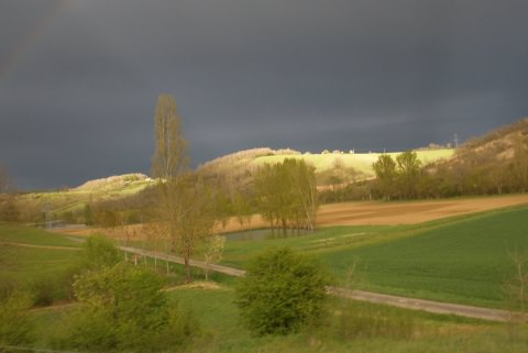 storm sky across the hill
