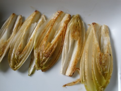 A photo of browned endives.