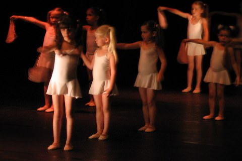 A photo of children in the ballet.