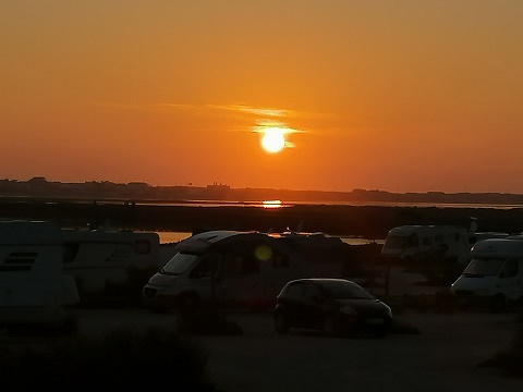 Sunsets in Faro and Quarteira, Portugal