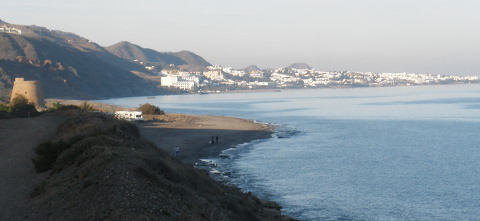Mojacar from a distance