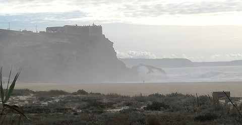 Headland on which Sitio sits Nazare