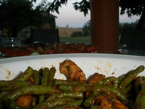Thai pork and green beans
