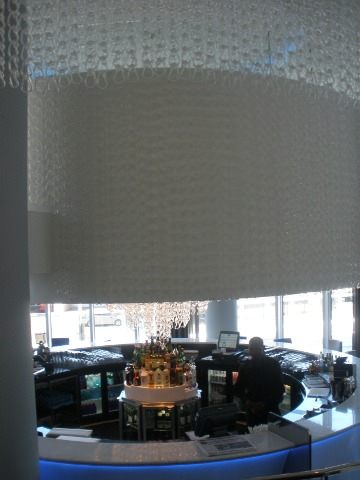 The Merano glass bar.